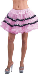 Petticoat Pink With Black Trim